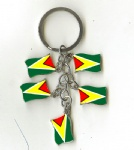 Guyana flag key chains