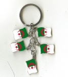 Algeria flag key chains