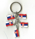 Serbia flag key chains