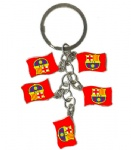 FC Barcelona flag key chains