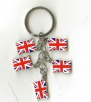 UK flag key chains