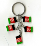 Afghanistan flag key chains