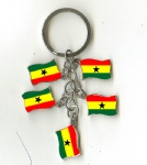 Ghana flag key chains
