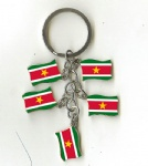 Suriname flag key chains