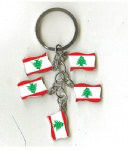 Lebanon flag key chains