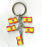 Spain flag key chains