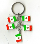 Mexico flag key chains
