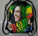 BOB Marley double-faced cotton Drawstring gym bag