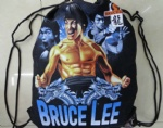 Bruce Lee cotton Drawstring gym bag