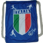 Italy flag Drawstring bag