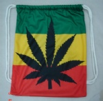 rasta leaf Drawstring bag