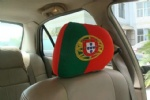 Portugal flag car seat head rest cover