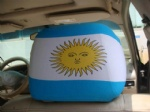 argentina flag car seat head rest cover