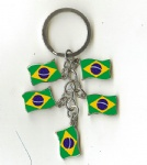 brazil key chains flag key ring charm souvenir