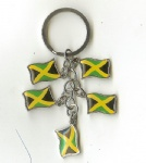 Jamaica key chains flag key ring charm souvenir