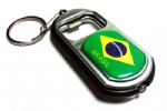Brazil flag led bottle opener