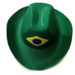 Brazil flag cowboy hat brazil world cup carnival hat