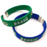 12mm Brazil flag weaving bracelet