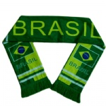 Brazil flag fleece scarf