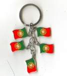 PORTUGAL Flag key chains
