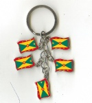 Grenada Flag key chains